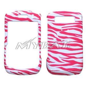 Blackberry Curve 8900, Hot Pink White Zebra Cell Phones & Accessories