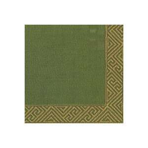 Greek Key Border Green Christmas Party Lunch Napkins