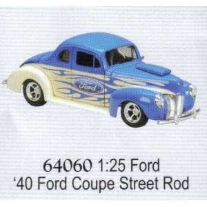 1940 Ford Coupe Street Rod Car Diecast Collectible Toys & Games