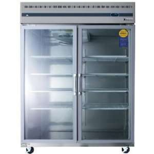 Everest Refrigeration ESGWR  2 Extra Wide 2 Swing Door Glass Reach In