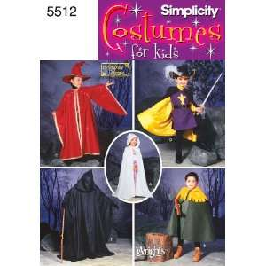 Simplicity Sewing Pattern 5512 Child Costumes, A (3 4 5 6