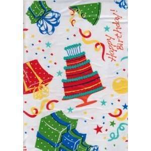 Happy Birthday Vinyl Tablecloth 52in X 70in Oblong