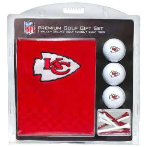 NFL Kansas City Chiefs Embroidered Golf Towel (3 Golf Balls/12 Tee