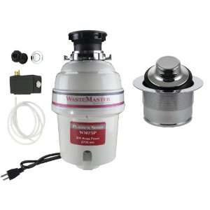 WasteMaster 3/4 HP Disposal with Chrome Air Switch/Flange Kit WM75P
