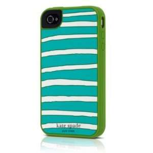 Design Kate Spade Horizontal Stripe Case for iPhone 4 Green 019860