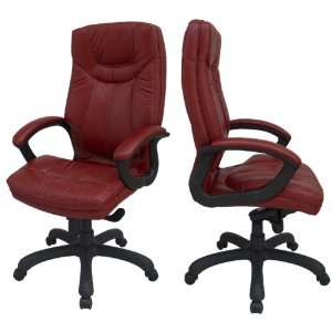 New High Back, Wine Glove Soft Leather Executive Swivel