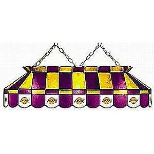 NBA Los Angeles Lakers 40 Inch Glass Pool Table Lamp