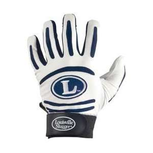 Louisville Slugger BG43 Youth Batting Glove   White/Navy