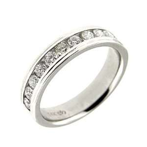 1.10 ct White Gold Diamond Mens Wedding Band Ring 14 K Jewelry