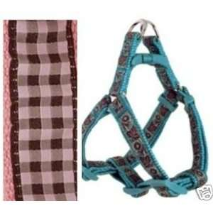 Douglas Paquette STEP Dog Harness GINGHAM PINK SMALL