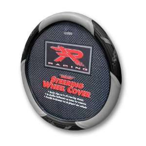 Grey R Racing Steering Wheel Cover Automotive