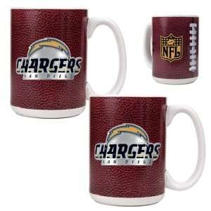 San Diego Chargers NFL 2pc Gameball Ceramic Mug Set