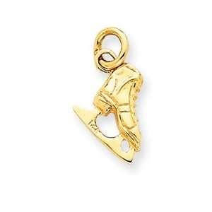 14k Ice Skate Charm   Measures 16.4x8.4mm   JewelryWeb Jewelry
