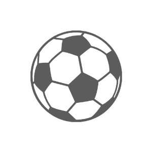 Soccer Ball small 3 Tall DARK GREY vinyl window decal