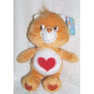 2002 Care Bears 8 Plush Tenderheart Bear Bean Bag Doll