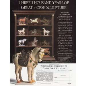 Ad 1989 Franklin Mint Great Horse Sculpture Franklin Mint Books