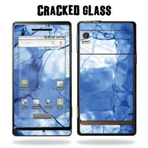 Protective Vinyl Skin Decal Sticker for Motorola Droid   Cracked Glass