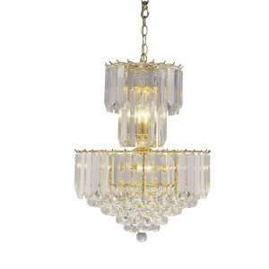 Westinghouse 67674   8 Light Polished Brass Ceiling Chandelier Light