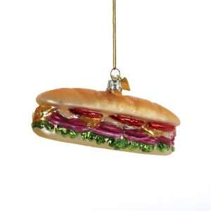 Kurt Adler 4 1/4 Inch Noble Gems Hero Sandwich Ornament