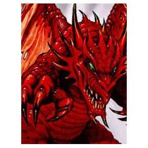 50 RED DEMON DRAGON MAX PROTECTION MAGIC CARD SLEEVES MTG