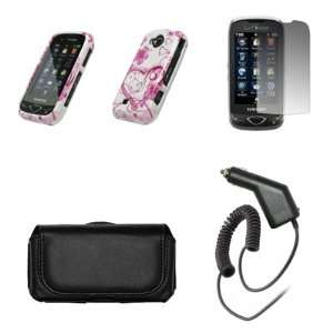 Samsung Reality U820 Premium Black Leather Carrying Case+