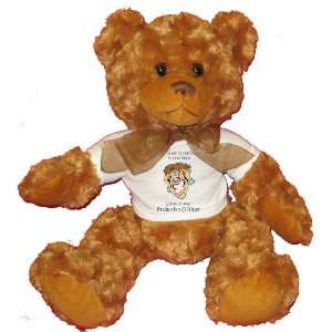 Probation Officer Plush Teddy Bear with WHITE T Shirt Toys & Games