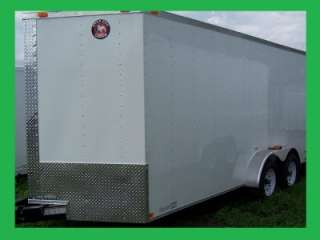 NEW 7X16 3500# TANDEM ROAD DOG TRADESMAN ENCLOSED CARGO OR MOTORCYCLE