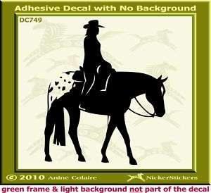 Western Pleasure Appaloosa Horse Decal Sticker 488/749