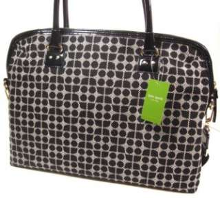 NWT KATE SPADE CLASSIC NOEL CALISTA LAPTOP BAG CASE BLACK WHITE TOTE