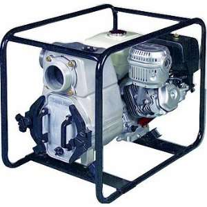 11 HP Honda Engine Driven Trash Pump with Low Oil Se