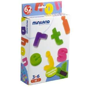 Miniland Magnetic Lower Case Letters Toys & Games