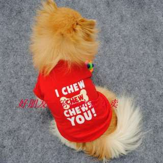 Cute Small Pet Dog Clothes T Shirt shirts Dress Type size XS S M L