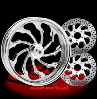 CHROME PERFORMANCE MACHINE TORQUE WHEELS, ROTORS, PULLEY TIRES HARLEY
